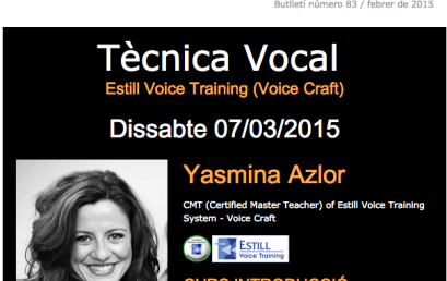 Curso introducción Estill Voice Training (Voice Craft) / Boletín 83
