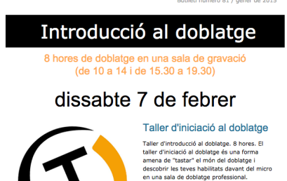 Taller de doblaje / Boletín 81